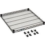 """Nexel® S2448B Black Epoxy Wire Shelf 48""""W x 24""""D"""