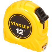 """Stanley 30-485 1/2"""" x 12' High-Vis High Impact ABS Case Tape Rule"""