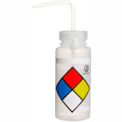 Bel-Art LDPE Wash Bottles 118160009, 500ml, Write On Label, Natural Cap, Wide Mouth, 4/PK