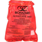 "Bel-Art Red Bench-Top Biohazard Bags 131660000, 0.43 Gallon, 0.72 mil Thick, 8.5""W x 11""H, 100/PK"