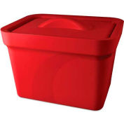 Bel-Art Magic Touch 2™ Ice Pan with Lid 168074103, 4.0 Liter, Red, 1/PK