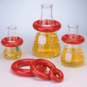 Bel-Art Red Round Lead Ring 183070020, Vikem Vinyl Coated, 2 lb., Fits 1000-4000ml Flasks, 1/PK