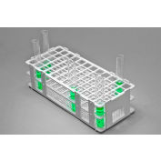 Bel-Art No-Wire™ PP Test Tube Rack 187450001, For 13-16mm Tubes, 60 Places, White, 1/PK