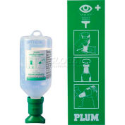 PLUM 248804001 Eye Wash Station, Open, Wall-Mount, 500ML 0.9% Saline