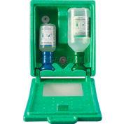 PLUM 248805003 Eye Wash Station, Covered, Wall-Mount, 500ML 0.9% Saline, 200ML pH Neutralizing