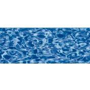 "GLI Pool Liner 050015RDBLSOL4852 15' Round, Blue Wall/Swirl Floor, 48""-52"" Sidewall OverLap"