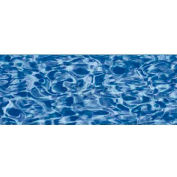 "GLI Pool Liner 050015RDBLSOL4852XP 15' Round, Blue Wall/Swirl Floor, 48""-52"" Sidewall Expandable"