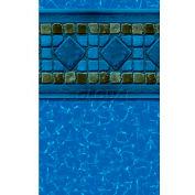 "GLI Pool Liner 050027RDMARUB52 27' Round, Blue Base Marina Print, 52"" UniBead"