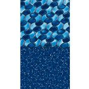 "GLI Pool Liner 051524OVRLWUB48 15' X 24' Oval, White Base Rolling Wave Print, 48"" UniBead"