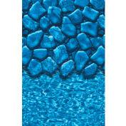 "GLI Pool Liner 051624OVBLDUB48 16' X 24' Oval, Blue Base Boulder Print, 48"" UniBead"
