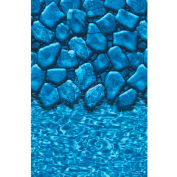 "GLI Pool Liner 051833OVBLDUB52 18' X 33' Oval, Blue Base Boulder Print, 52"" UniBead"