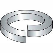 "Hi Collar Split Lock Washer - 5/16"" - Thru Hardened Med. Carbon Steel - Plain - 100 Pk - BBI 013016"