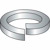 "Hi Collar Split Lock Washer - 3/8"" - Thru Hardened Medium Carbon Steel - Plain - 100 Pk - BBI 013018"