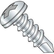 "#12-14 x 1"" Self-Drilling Screw - Phillips Pan Head - 410 Stainless Steel - FT - 200 Pk"