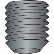 "Socket Set Screw - 6-32 x 1/4"" - Cup Point - Steel Alloy - Thermal Black Oxide - UNC - 100 Pk"