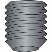 "Socket Set Screw - 10-24 x 1/4"" - Cup Point - Steel Alloy - Thermal Black Oxide - UNC - 100 Pk"
