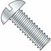 "10-32 x 1/4"" Machine Screw - Round Head - Slotted - Brass - Plain - Pkg of 100 - BBI 116213"