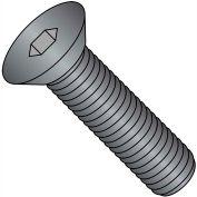 "Flat Socket Cap Screw - 1/4-20 x 1/2"" - Steel Alloy - Thermal Black Oxide - FT - UNC - 100 Pk"