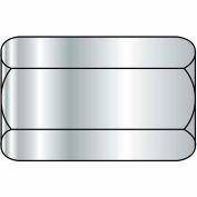 "Hex Coupling Nut - 1/4-20 x 7/16"" W x 1-3/4"" L - Grade A - Zinc CR+3 - Steel - ASTM A563 - 100 Pk"