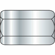 "Hex Coupling Nut - 3/8-16 x 1/2"" W x 1-1/8"" L - Grade A - Zinc CR+3 - Steel - ASTM A563 - 50 Pk"