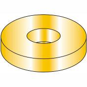 "Flat Washer - 5/8"" - Thru Hardened Medium Carbon Steel - Zinc Yellow - SAE - Pkg of 50 - BBI 383350"