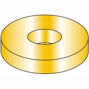 """Flat Washer - 3/8"""" - Alloy Steel - Zinc Yellow - SAE - Made In USA - Pkg of 100 - BBI 448006"""