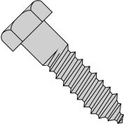 "Hex Lag Screw - 3/8-7 x 1-1/2"" - Low Carbon Steel - Zinc CR+3 - Pkg of 50 - Brighton-Best 486318"