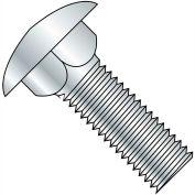 """Carriage Bolt - 3/8-16 x 4"""" - Round Head - Steel - Zinc CR+3 - Grade A - FT - A307 - Pkg of 25"""