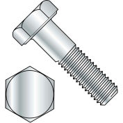 "Hex Bolt - 1/4-20 x 1/2"" - Grade A - Steel - Zinc CR+3 - UNC - FT - A307 - Pkg of 200 - BBI 494001"