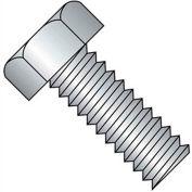 "10-24 x 1"" Machine Screw - Indented Hex Head - Unslotted - Steel - Zinc CR+3 - FT - UNC - Pkg of 100"