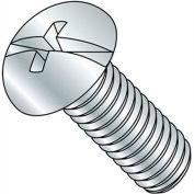 "6-32 x 3/4"" Machine Screw - Round Head - Phillips/Slotted - Steel - Zinc CR+3 - FT - Pkg of 100"