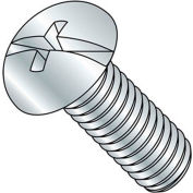 "8-32 x 1-1/2"" Machine Screw - Round Head - Phillips/Slotted - Steel - Zinc CR+3 - FT - Pkg of 100"