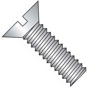 """1/4-20 x 3/8"""" Machine Screw - Flat Head - Slotted - Steel - Zinc CR+3 - FT - Pkg of 100 - BBI 580614"""