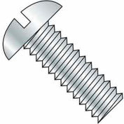 "8-32 x 3/4"" Machine Screw - Round Head - Slotted - Steel - Zinc CR+3 - FT - Pkg of 100 - BBI 583323"