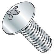 "#10-24 x 3/8"" Machine Screw - Phillips Truss Head - Steel - Zinc - FT - Pkg of 50 - BBI 589411-PR"
