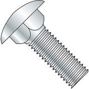 M10 x 1.5 x 35mm Carriage Bolt - Round Head - Steel - Zinc - FT - Class 4.6 - DIN 603 - Pkg of 30