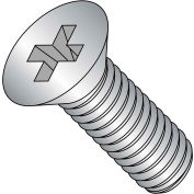 Machine Screw - M4 x 0.7 x 6mm - Phillips Flat Head - Class 4.8 - Steel - Zinc - DIN 965A - 1000 Pk