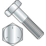 "Hex Cap Screw - 1/4-20 x 1/2"" - Carbon Steel - Zinc CR+3 - Gr 5 - FT - UNC - Pkg of 100 - BBI 847002"