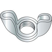 Wing Nut - Stamped - #10-24 - Type D - Style 1 - Low Carbon Steel - Zinc CR+3 - UNC - 100 Pk