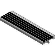 "Babcock-Davis® Stair Tread W/Bar Abrasive BSTTB-P3.375E-48, Extruded Aluminum, 48""W X 3-3/8""D"