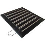 "Babcock-Davis® Roll Up Entrance System M-650, Vinyl Hinge, Aluminum Rail, 75-1/4""W X 51-1/4""D"