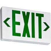 Lithonia EXG LED EL M6 Green Led Exit W/ Battery Back-Up