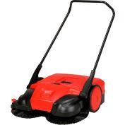 "Bissell 38"" Battery Powered Triple Brush Push Power Sweeper, 13.2 Gallon Capacity - BG697"