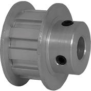 """10 Tooth Timing Pulley, (L) 3/8"""" Pitch, Clear Anodized Aluminum, 10l050-6fa5 - Min Qty 5"""