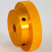 120 Tooth Timing Pulley, (Mxl) 0.08 Pitch, Gold Anodized Aluminum, 120mp025-6a5 - Min Qty 3