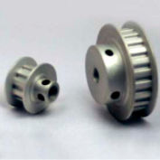 """12 Tooth Timing Pulley, (Xl) 1/5"""" Pitch, Clear Anodized Aluminum, 12xl025-6fa4 - Min Qty 10"""