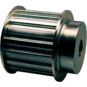 """18 Tooth Timing Pulley, (H) 1/2"""" Pitch, Clear Zinc Plated Steel, 18h200-6fs8 - Min Qty 2"""