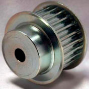 22 Tooth Timing Pulley, (Htd) 8mm Pitch, Clear Zinc Plated Steel, 22-8m20-6fs6 - Min Qty 2