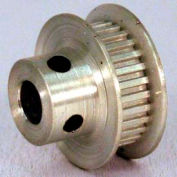 26 Tooth Timing Pulley, (Lt) 0.0816 Pitch, Clear Anodized Aluminum, 26lt187-6fa3 - Min Qty 8