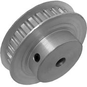 "28 Tooth Timing Pulley, (Xl) 1/5"" Pitch, Clear Anodized Aluminum, 28xl025-6fa3 - Min Qty 5"